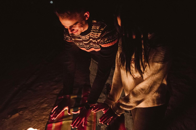 Chańcza, Świętokrzyskie, noc, ognisko sesja narzeczeńska, fotografia ślubna